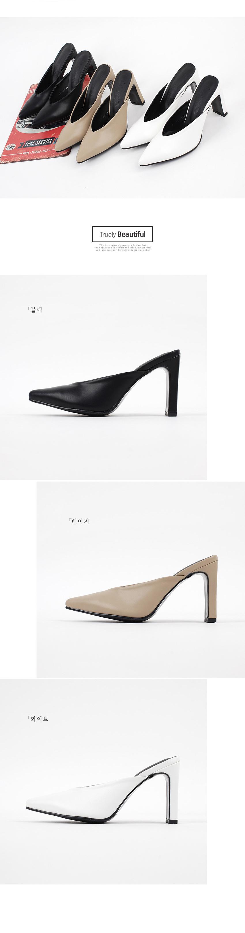 더보이더걸WS-6647(9cm) 여자 뾰족코 뮬슬리퍼 스틸레토 - 더보이더걸, 47,800원, 슬링백/블로퍼, 블로퍼