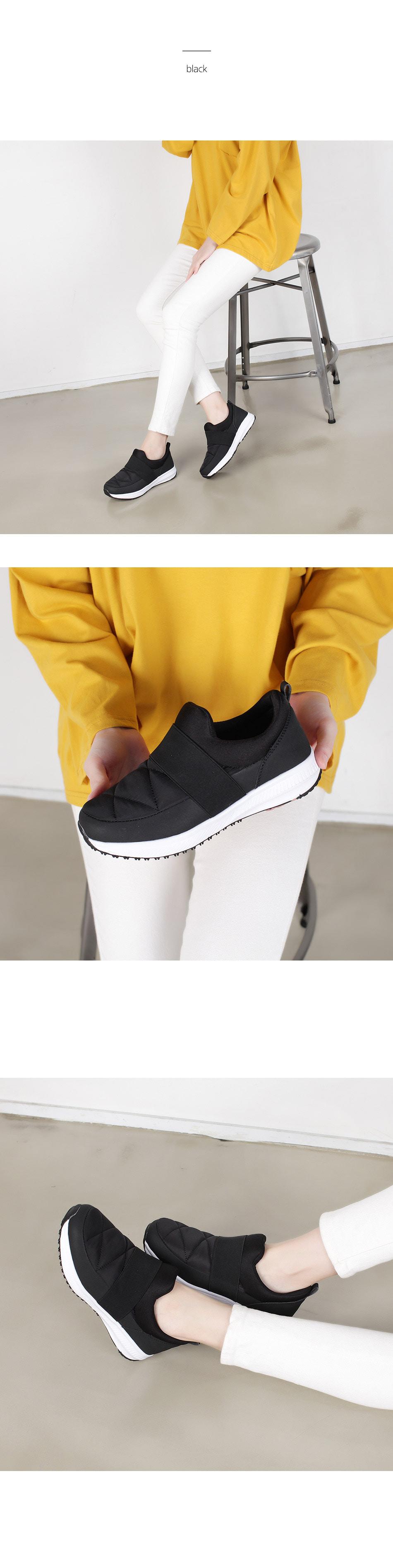 WS-6884 여자 패딩 슬립온 단화 겨울 캐주얼 신발 - 더보이더걸, 38,900원, 운동화/슬립온, 슬립온