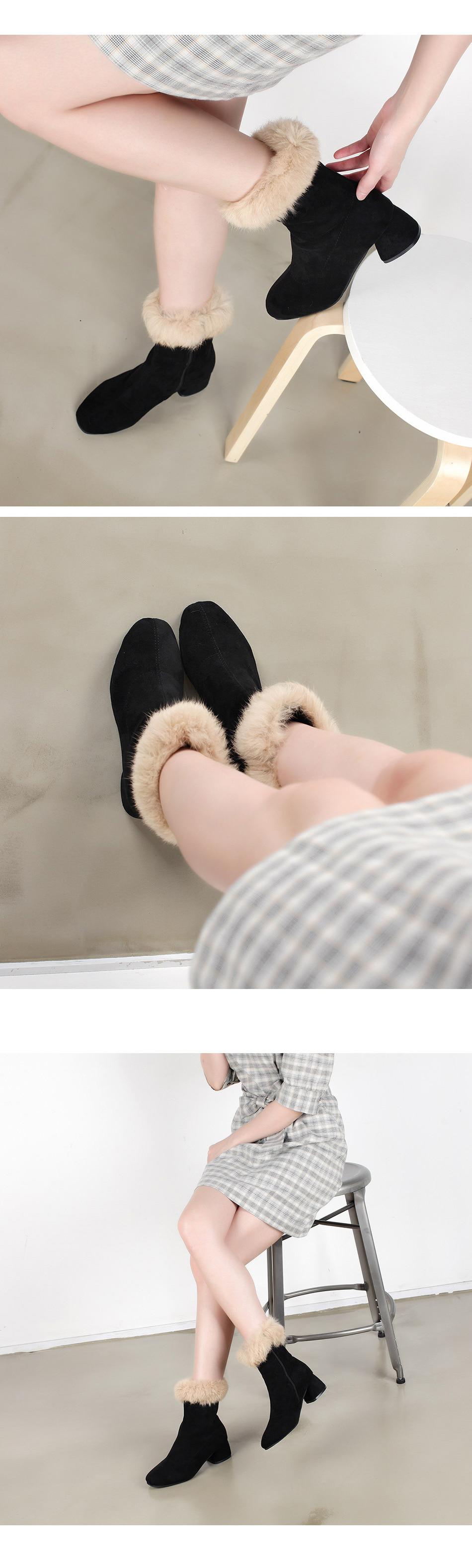 WS-6910(5cm) 겨울 여자 기모안감 미들 앵클부츠 하프 - 더보이더걸, 41,900원, 부츠, 앵클부츠